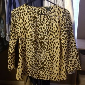 J Crew cheetah print blouse 3/4 sleeve